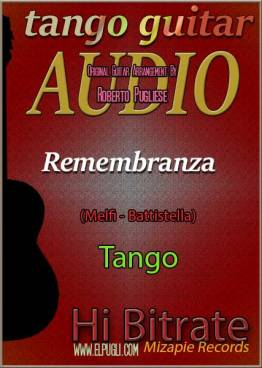 Remembranza 🎵 mp3 tango en guitarra