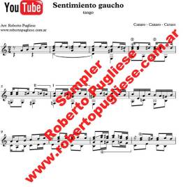 Sentimiento gaucho 🎼 partitura del tango en guitarra. Con video
