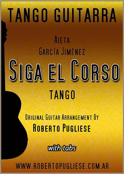 Siga el corso 🎼 partitura del tango en guitarra. Con video