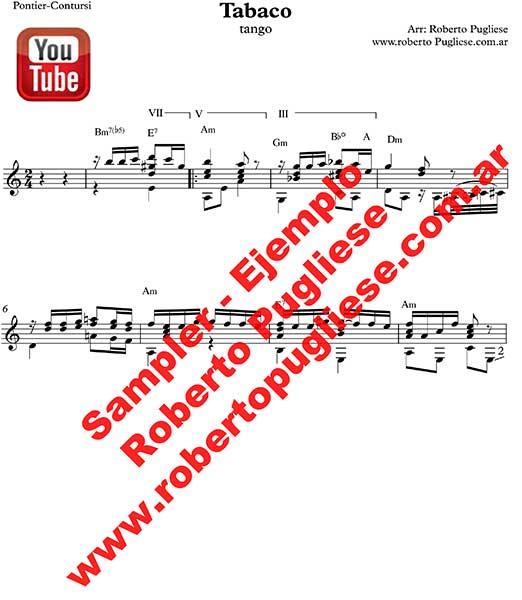 Tabaco 🎼 partitura del tango en guitarra. Con video