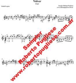 Volver 🎼  Tango partitura del tango en guitarra. Con video