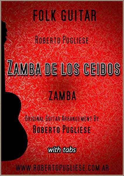 Zamba de los ceibos 🎼  partitura de la zamba guitarra. Con video.