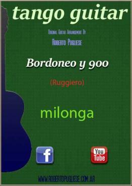 Bordoneo y 900 🎼 milonga partitura de guitarra. Con video