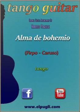 Alma de bohemio 🎼 tango partitura de guitarra. Con video