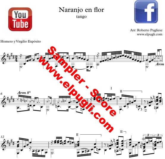 Naranjo en flor 🎼 tango partitura de guitarra. Con video