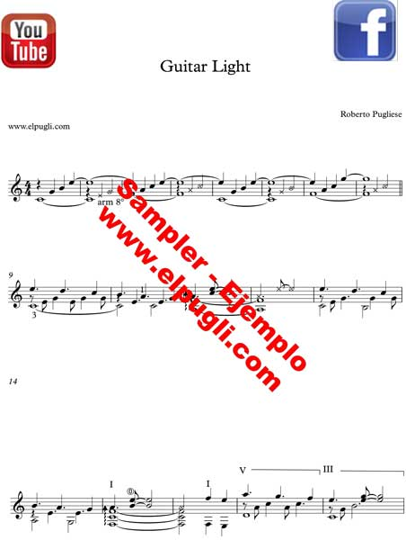 Guitar Light 🎼 Healing and relaxing music score