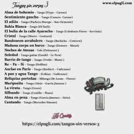 Tangos sin versos 3 💿 20 tracks de tangos instrumentales en guitarra