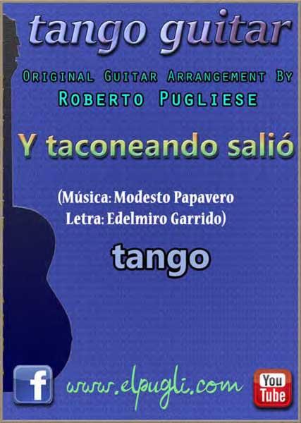 Y taconeando salió 🎼 partitura del tango en guitarra. Con video y mp3 gratis