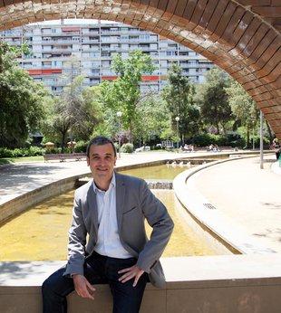El director de campanya, Jaume Collboni, dijous, a Barcelona. / Foto: ANDREU PUIG.