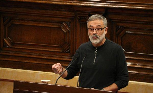El diputat de la CUP Carles Riera, intervenint en un ple del Parlament ACN.