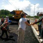 Supervisa Laura Beristain Construcción De Domos Y Pavimentación
