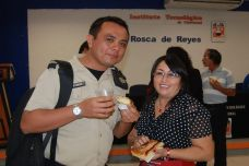 Lorena May y Diego Baeza.