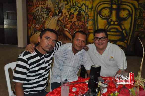 Addiel Mendez, Bruno Benitez y Raul Godoy.
