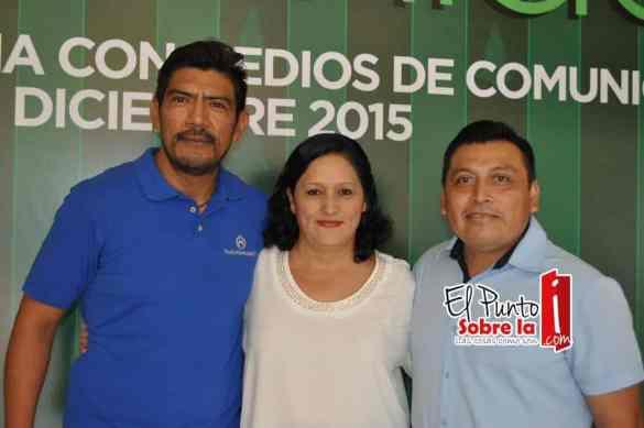 Rafael Briceño, María Elena Urgell y David Acosta.