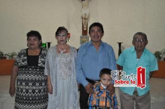 Con Ruperto Caamal Che y Natalia Dzib Canul.