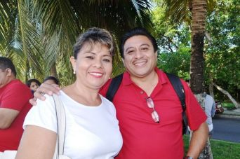 Víctor Ku y Luceli Méndez.