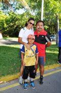 Alejandra Nicoli, Javier Flores y Alexander Flores.