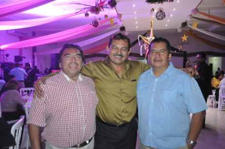 Julio Escobedo, Nelson Arguelles y Eddy Bonilla.