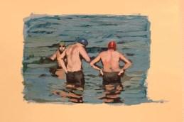 La muestra se inspira en diferentes nadadores de la Región de Los Lagos.