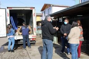 Fundación Caritas de la iglesia diocesana realiza una entrega mensual de los aportes en kit de seguridad y alimentación.