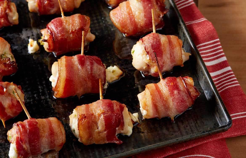 Rollitos de Bacon, Pollo y Mango
