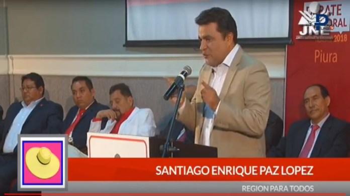 Santiago Paz López en debate