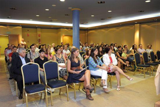 Fotografía del acto de presentación de El Reino de las Sirenas en el Hotel Montera Plaza el 7 de octubre de 2011