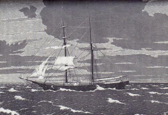 Dibujo del Mary Celeste