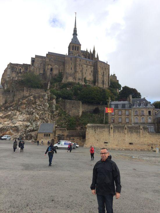 J. A. Ortega en Mont Saint Michel