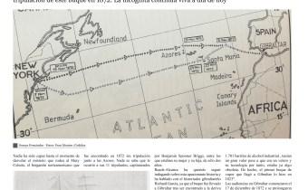 Página 11 de la revista Reach Extra Alcance con un reportaje sobre el misterio del Mary Celeste