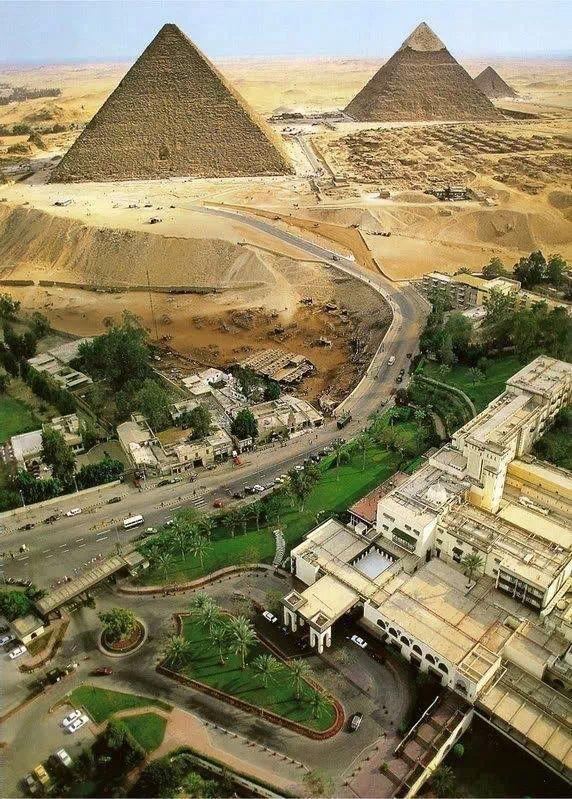 Así de cerca están las pirámides de la ciudad de El Cairo