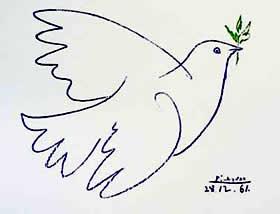 Resultado de imagen de paloma de la paz picasso dibujada por niños