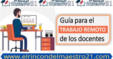 ¡Atención Docente! Guía para el trabajo remoto de los docentes 2021.
