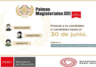 Inicia la Inscripción de Candidatos a las Palmas Magisteriales 2021[ Se Realizarán de Forma Virtual hasta el 30 de Junio][ Infórmate Aquí]
