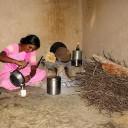 Indoor rural cooking in India