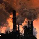 a plant spewing carbon dioxide