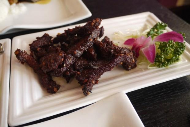 Crispy coriander beef