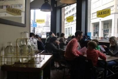 Seating at Federal Cafe and Bar