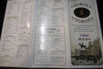 Vienna Coffee House menu
