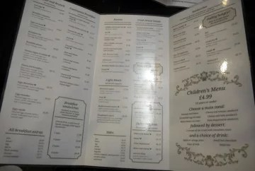Vienna Coffee House menu