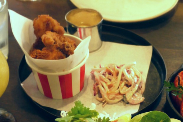 Salt and pepper fried chicken with chipotle mayonnaise