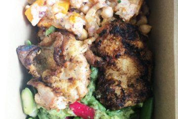 2 salads and chicken
