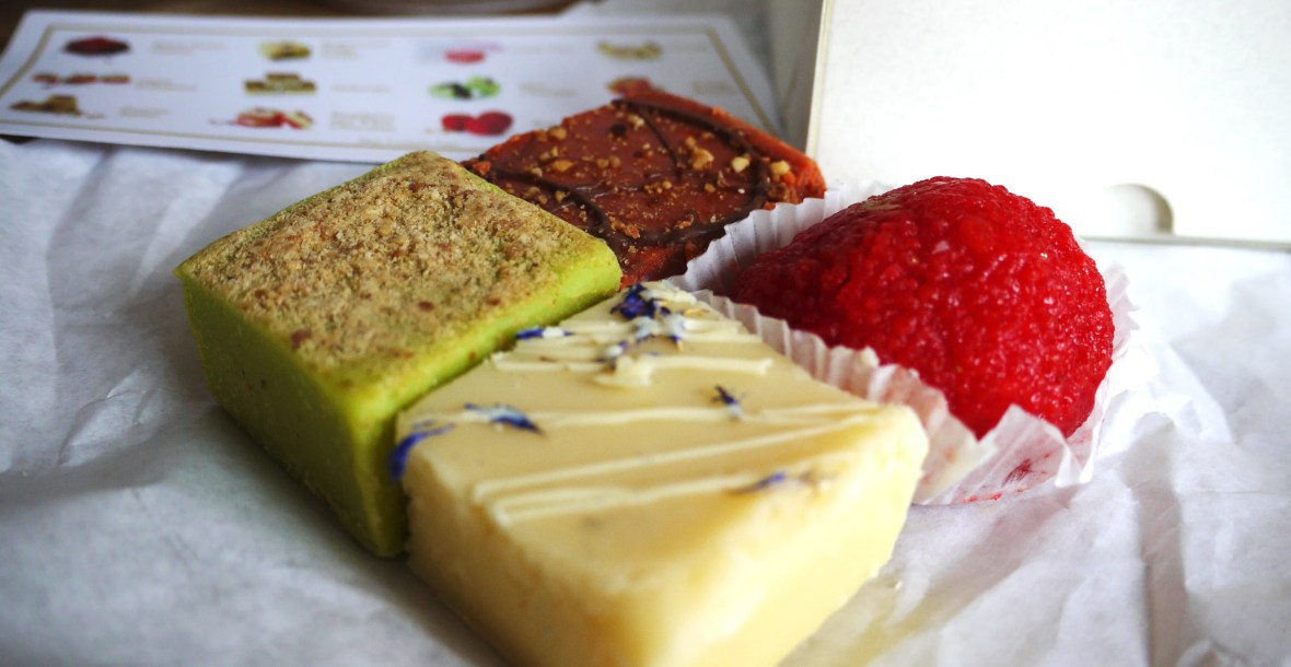 Selection of barfi from Barfia
