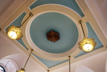 Jamie's Italian King St, ceiling
