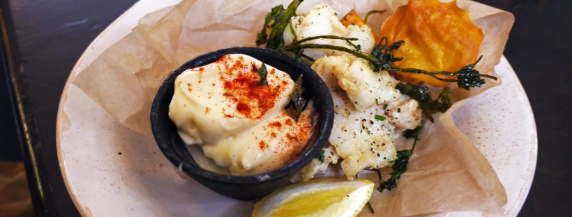 Fritto misto: Crispy fried fish & squid tossed in fennel-spiced flour with garlic & lemon aioli