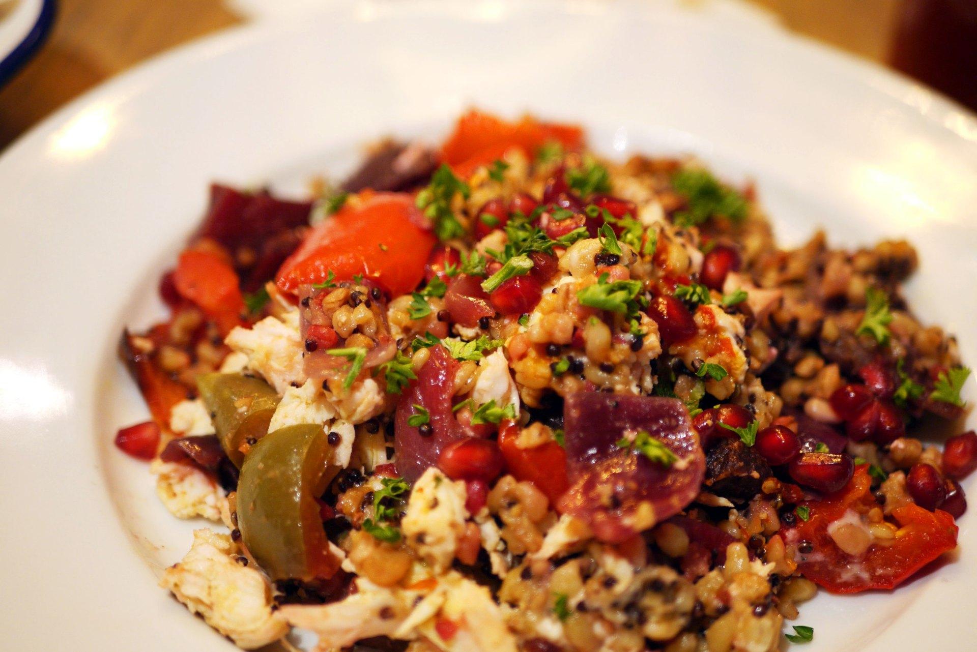 Warm Super Grain Salad £9.95