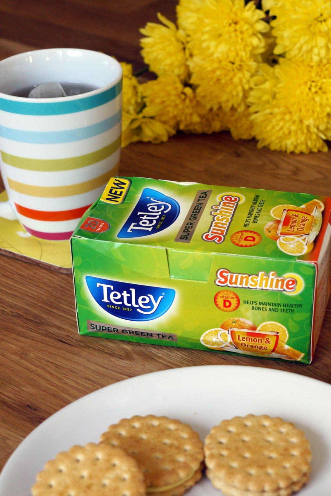 Tetley's Super Green Tea Sunshine