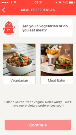 Meal Pal filtering