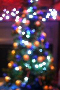 Be At One Christmas bokeh