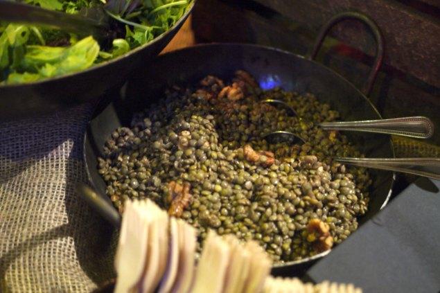 Grape and grain catering - lentils